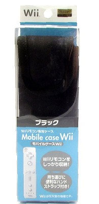 Wii Mobile Case Black (New)