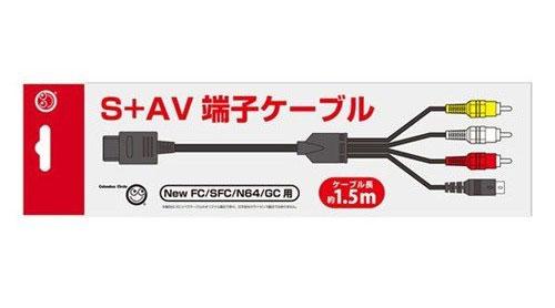 Famicom Super Famicom Nintendo 64 GameCube S Video Cable (New)