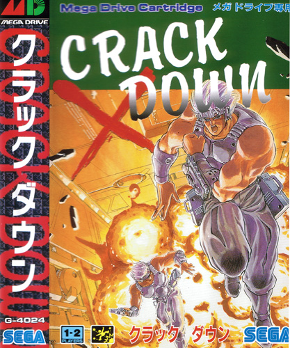 Front cover / image - Crack Down.